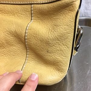 Fossil Bags - FOSSIL YELLOW PURSE LEATHER